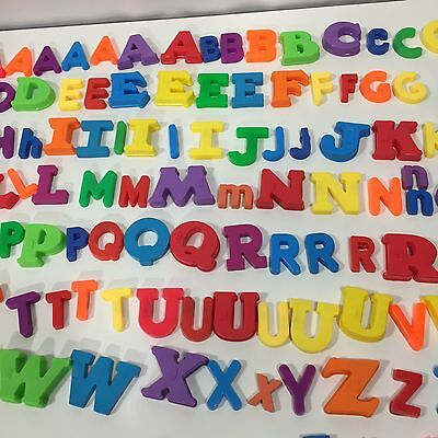 ALPHABET MAGNETS Lot of 115 Letters Numbers Preschool Education Plastic Braille
