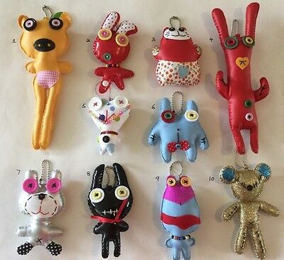 New Leatherette Monster Hand Bag/School Bag Charms/Pendants for Boys & Girls