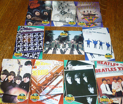 *<* GREAT LOT of 10 BEATLES RIVER GROUP LP CARDS: BARGAIN PRICE, LOW SHIPPING!