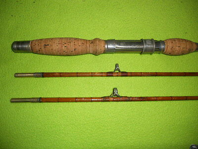 "Vintage Bamboo Fishing Rod HeddonS""  Dowagiac, 2 tops    Rods Reels n Deals"