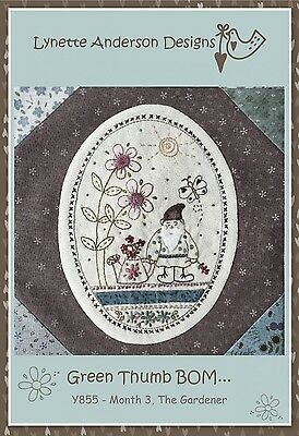 GREEN THUMB BLOCK OF THE MONTH #3 PATTERN, from Lynette Anderson Designs *NEW*