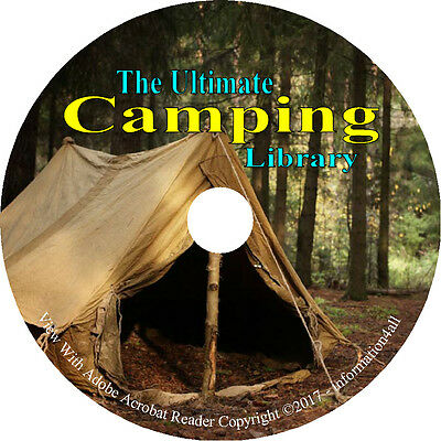 Camping, Ultimate Library on DVD - 70 Books, Camp, Cooking, Trailing, Wilderness