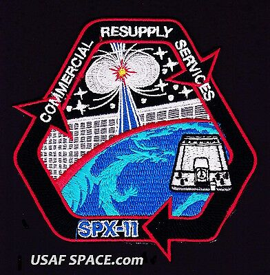 NEW SPX-11 - SPACEX CRS-11 NASA COMMERCIAL ISS RESUPPLY ORIGINAL AB Emblem PATCH