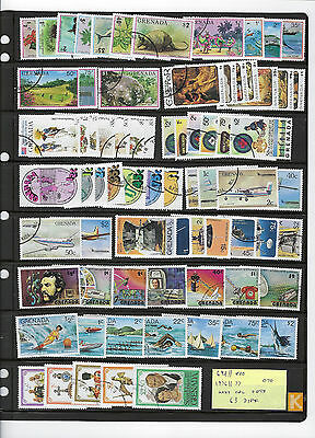 GRENADA...# 692//800...1976/77... Collection of 63 Diff...Many Cpl Sets...CTO