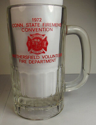 1972 Conn State Firemens Convention Wethersfield Volunteer Fire Department Mug
