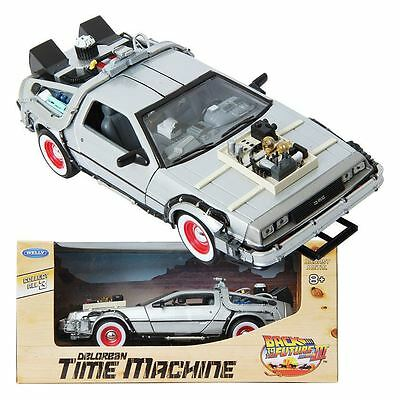 WELLY 1:24 Back To The Future III Delorean Time Machine Die-cast Metla Toy