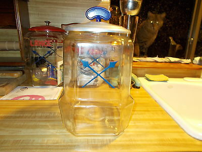 Lance Cracker Big Bottom Jar Store Counterd Crossed Arrows Vintage Aluminum lid