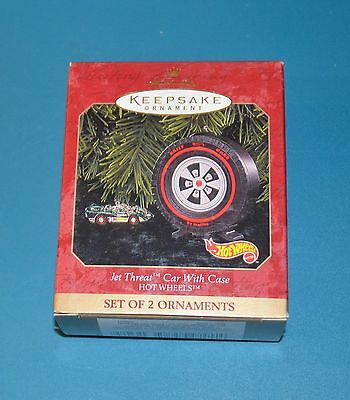 Hallmark Keepsake Ornament Hot Wheels Jet Threat car & Case Miniatures NIB