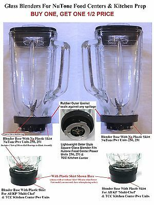 2 Glass Blenders NuTone 272: 1/2 price 2nd one NuTone Food Center 250, 251 & TCC