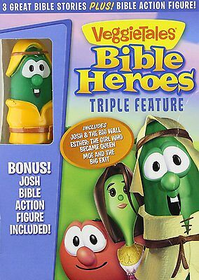 Veggie Tales: Bible Heroes Triple Feature DVD With Toy