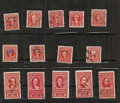 Small Lot of US documentary revenue stamps