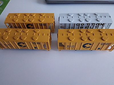 Lot of 4 Athearn HO RTR Covered Hopper SHELL/HOUSING rolling stock train layout