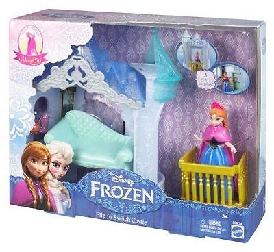 Disney Frozen MagiClip Flip `N and Switch Castle & Anna Doll Playset Mattel NEW