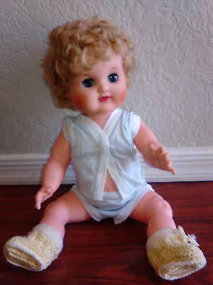 Uneeda Baby Trix Doll Original Outfit Lovely Face Color 1954