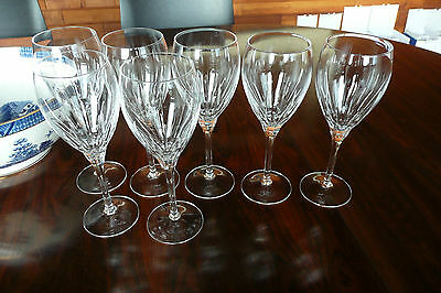 Set of 7, Royal Doulton crystal, simple, classic, lineal design