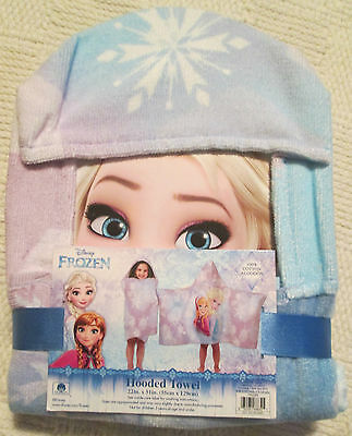 Disney Frozen Hooded Towel Wrap for Swimming Pool Bath or Beach NEW