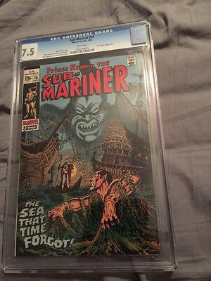 Sub Mariner Submariner 16 1969 CGC 7.5 White Pages Tiger Shark Awesome Cover!!!!