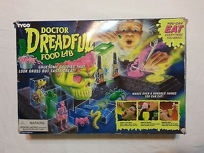 Vintage Dr. Dreadful Food Lab Candy Kit with refills TYCO Gross Food Lab