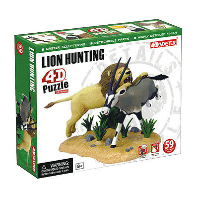 4D Master Puzzle Animal Toy / Figure LION HUNTING DIORAMA