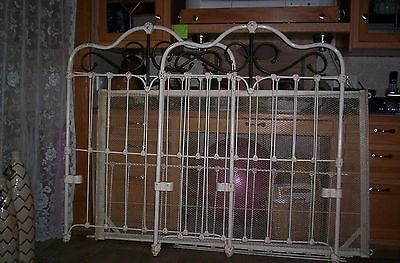 Vintage ANTIQUE WROGHT IRON and BRASS Childs Bed