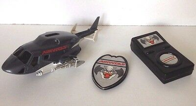Airwolf Rough Riders 1982 Ljn Vintage Helicopter  + Badge & Radio