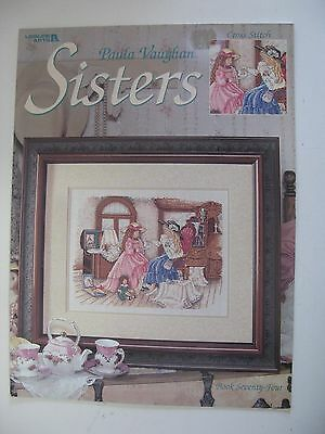 "Cross Stitch pattern, by Paula Vaughan, ""Sisters"", Book 74"