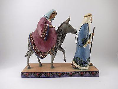 Jim Shore The Journey That Changed The World Mary Joseph Donkey Figurine EUC