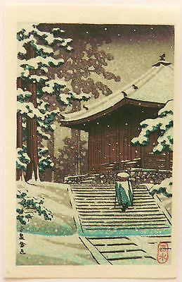 GENUINE JAPANESE WOODBLOCK PRINT By KAWASE HASUI