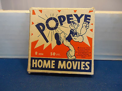 Popeye 1929 King Features home movie 8mm with box vtg cartoon figure character