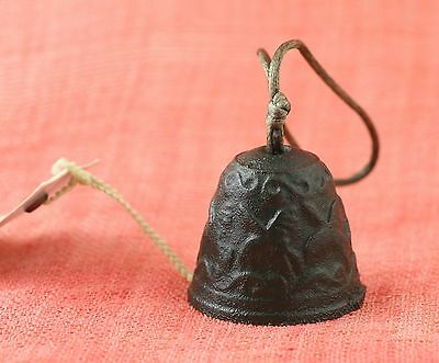 Japanese Vintage Wind Bell Cast Iron Nanbu Tekki Dark Green Furin