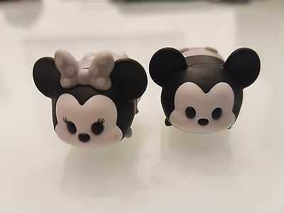 Vinyl Tsum Tsum Black and White Retro Mickey & Minnie Mouse Medium B02/B05 RARE