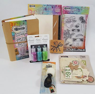 Dylusions Mixed Media Stamp Journal lot