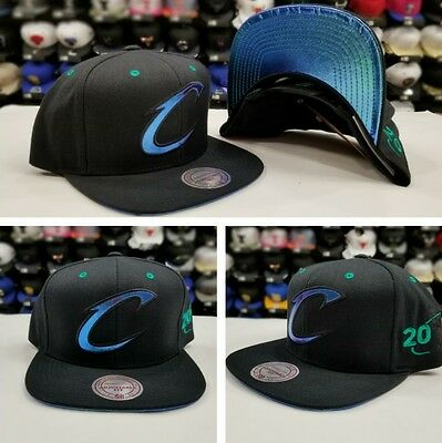 2016 Mitchell & Ness NBA BLACK Hologram Cleveland Cavaliers snapback Hat