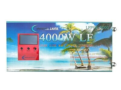 5000W power inverter, LF pure sine wave, DC 12V / AC 240V, charger/ LCD/ UPS