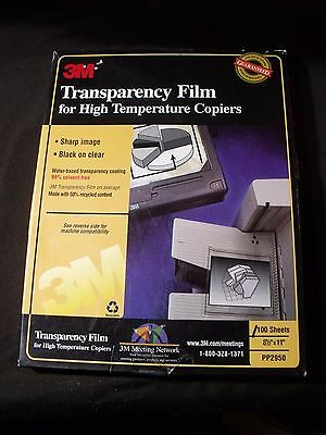 3M Transparency Film for High Temperature Copiers PP2950, OPENED about 90 left