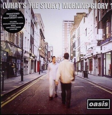 Oasis What's The Story Morning Glory vinyl 2 LP +download g/f