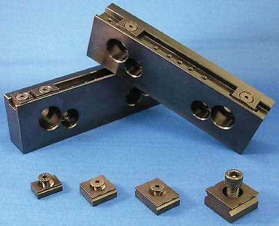 "Mitee-Bite 4"" Long TalonGrip Steel Vise Jaw Set for 4.0"" CNC Mill Vises"