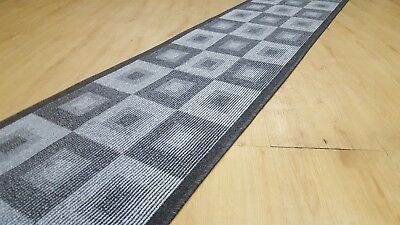 Hallway runner grey heavy quality 80cm wide RubberBack/ Fully Overlocked