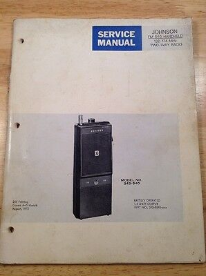 Service Manual For Johnson FM-540 Handheld Two-Way Radio Model # 242-540  A-D