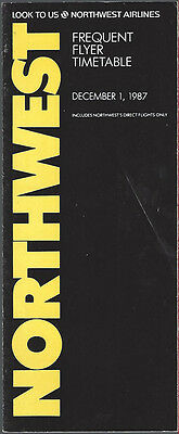 Northwest Airlines system timetable 12/1/87 [308NW] Buy 2 Get 1 Free