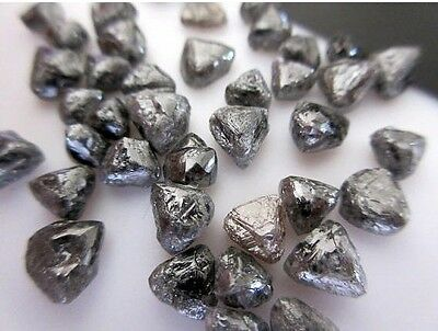 10Pieces Natural Flat Diamond Crystals Trillions Raw Rough Diamonds 6.5mm DDS470