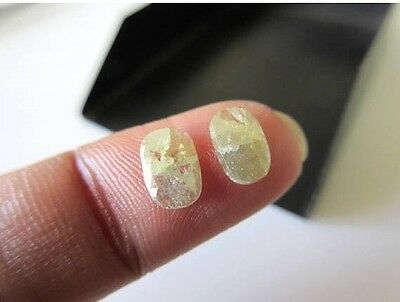 2 Pieces 1.25CTW Oval Shaped Yellow Green Rose Cut Flat Back Diamond DDS462/9