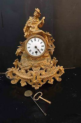 Late Victorian mantle clock