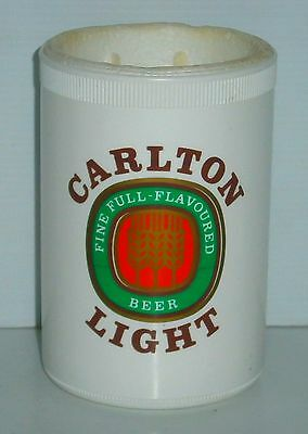 Carlton Light Beer plastic stubby can holder for home bar pub collector