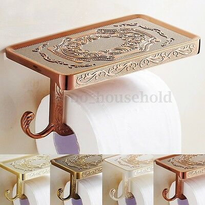 Vintage Bathroom Toilet Paper Roll Tissue Rack Wall Mounted Holder Shelf Cover