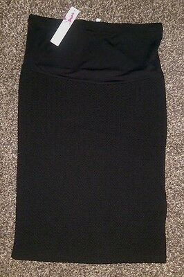 RedHerring Maternity Black textured maternity pencil skirt, size 10, BNWT