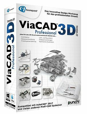 PUNCH! ViaCAD 3D Version 10 Professional WIN / MAC CD/DVD Pro EAN 4023126118912