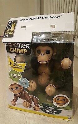 Zoomer Chimp Brown Monkey Pet Interactive Robotic with sounds Toy - Faulty