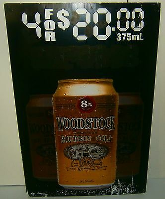 Woodstock Bourbon 60 x 90 cm corflute sign for home brew bar, pub or collector