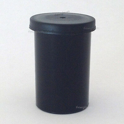 100x Film canister containers pots tubs lids Black craft rhinestone storage box